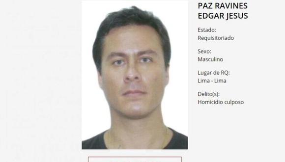 Edgar Paz Ravines se encuentra detenido en México. (Foto: Ministerio del Interior)