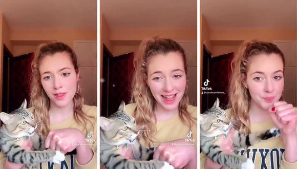 El video de la joven ha recibido muchos comentarios de amantes de los felinos. (Foto: @carolinainfant   TikTok)