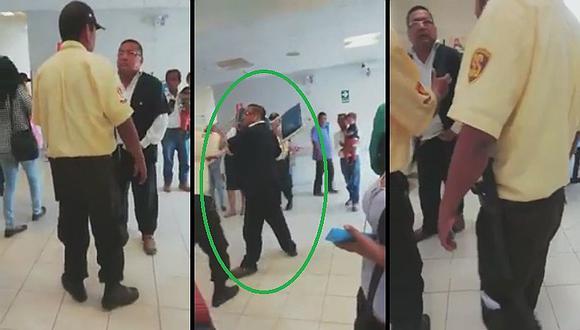 Doctor se 'loqueó' e intentó atacar a su paciente a sillazos (VIDEO)