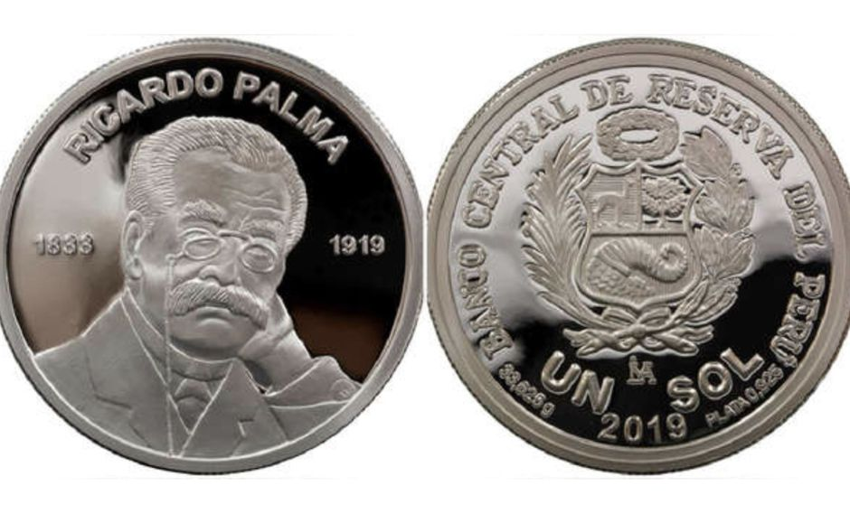 Se detalla que en el reverso de la moneda, figurará el rostro y nombre de Ricardo Palma. (Imagen: Agencia Andina)