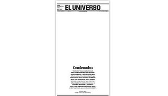 Asociaciones de prensa de Suramérica rechazan sentencia contra El Universo