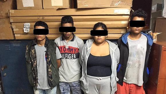 Banda de delincuentes conformados por cuatro menores son detenidos tras robo de cartera