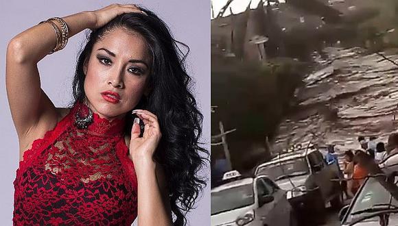 Huaico arrasó con vivienda de cumbiambera Katy Jara en Trujillo (VIDEO)
