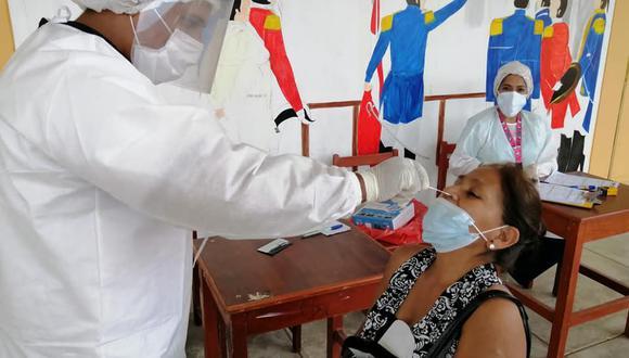 Piura: aplican pruebas moleculares a pobladores de Marcavelica para descartar del COVID-19 (Foto: Municipalidad Sullana)