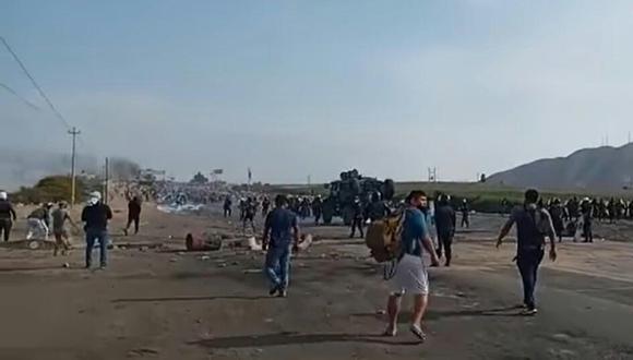 Ica: Conductores se unen a la PNP en la lucha con los manifestantes agropecuarios (Foto: Difusión)