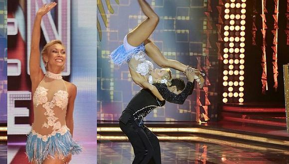 El Gran Show: Belén Estévez bailaba y se le salió el hombro (VIDEO)