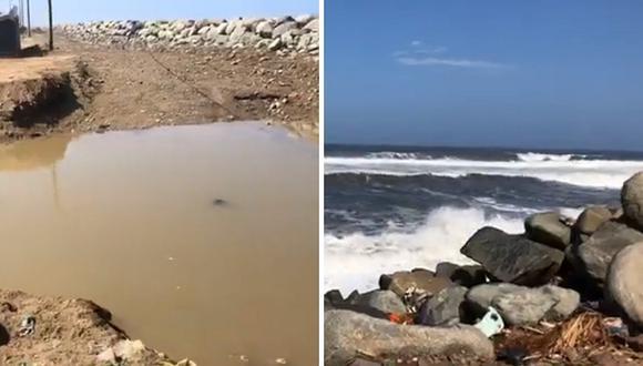 Oleaje anómalo se registra en Trujillo afectando a varias viviendas