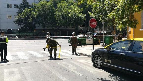 Explosición en Chile: cuatro heridos en paradero de bus de Santiago (FOTOS)