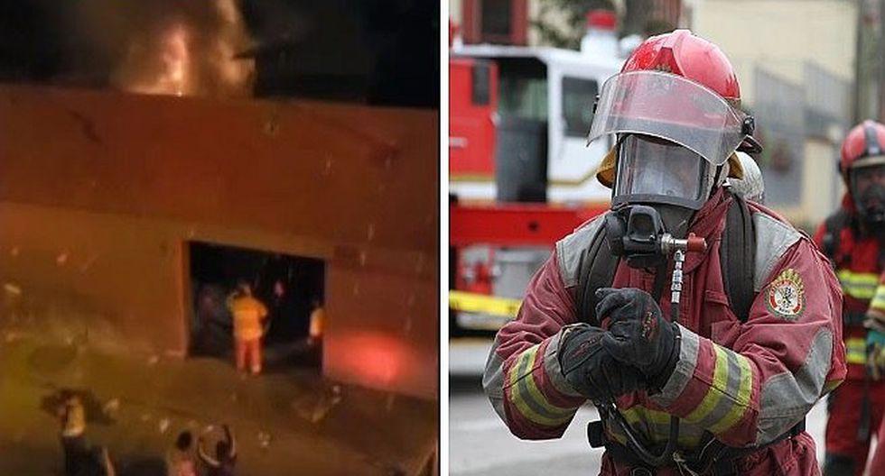 Reportan incendio en cuadra ocho del jirón Puno en el Centro de Lima