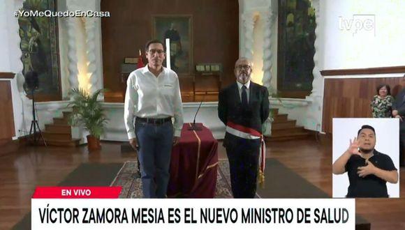 Víctor Zamora es el nuevo ministro de Salud. (TV Perú)
