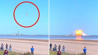 Cohete proyectado en llevar humanos a Marte se estrella a pocos minutos de lanzamiento