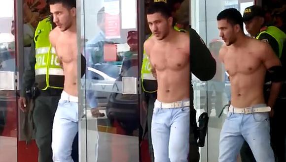 Intenta asaltar un banco, pero lo que robó fue suspiros en las redes por su físico (VIDEO)