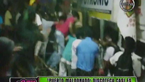 Puerto Maldonado: Destruyen discoteca por ausencia de Tilsa Lozano [VIDEO]