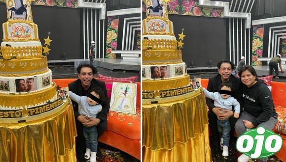 Ernesto Pimentel y su hijo Gael. Fotos: (Difusión).