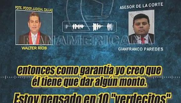 """En nuevo audio, presidente de la Corte Superior del Callao pide """"10 verdecitos"""" por puesto en el Estado (VÍDEO)"""