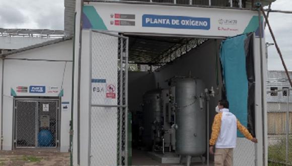 Junín:  la planta generadora de oxígeno  tiene una capacidad para producir 24 metros cúbicos por hora del vital insumo. (Foto: Difusión)