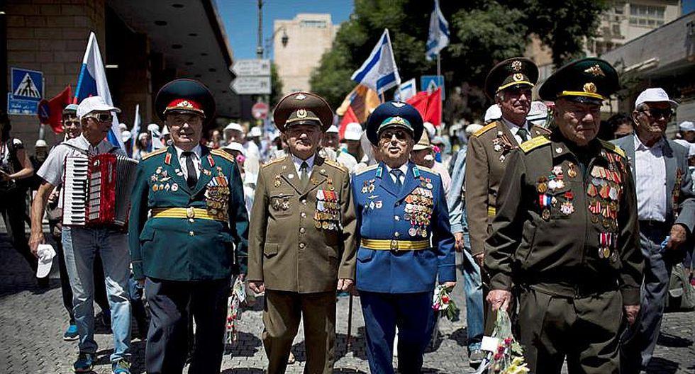 Israel: Veteranos soviéticos desfilan en Jerusalén para recordar victoria aliada