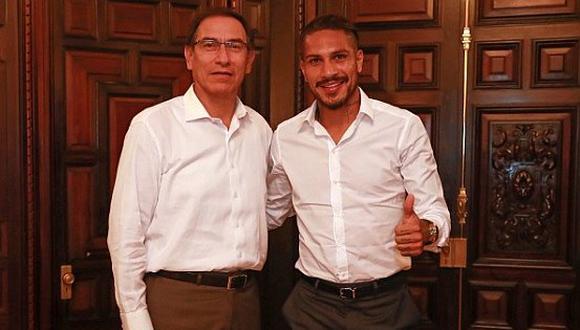 ¿Qué dijo Martín Vizcarra tras encuentro con Paolo Guerrero?