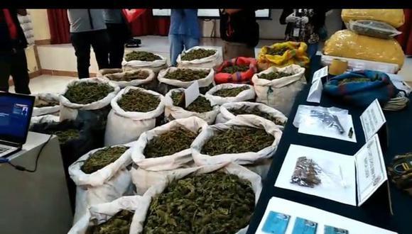 La Libertad: Policía incauta más de 300 kilos de marihuana durante cuarentena por COVID-19. (Foto: captura de pantalla/PNP)