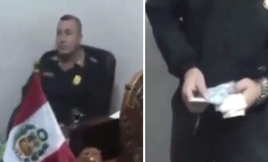 Detienen a policía por cobrar más de 1500 soles a colega para no cambiar su lugar de trabajo (VIDEO)