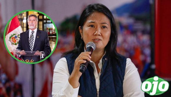 Keiko Fujimori increpa a Sagasti. Foto: (GEC | Presidencia Perú).