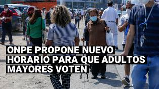 Elecciones 2021: ONPErecomendará a adultos mayores votar de 2 a 4 de la tarde en la segunda vuelta