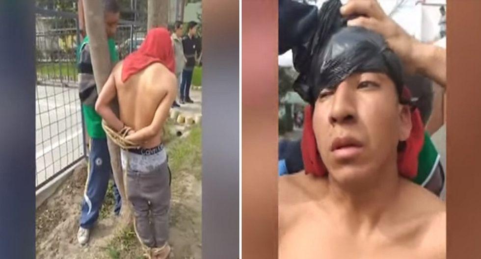 """Vecinos capturan a ladrón por robar celular y este se justifica: """"Tenía hambre""""│VIDEO"""
