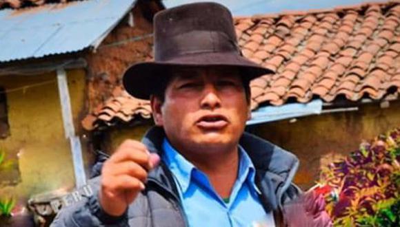 Apurímac. El tesorero de la municipalidad distrital de Canchi, Florencio Martínez. (PNP)
