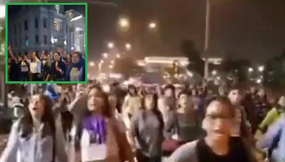 Mujeres marchan en las calles y protestan tras agresión a Eyvi Liset (VIDEO)