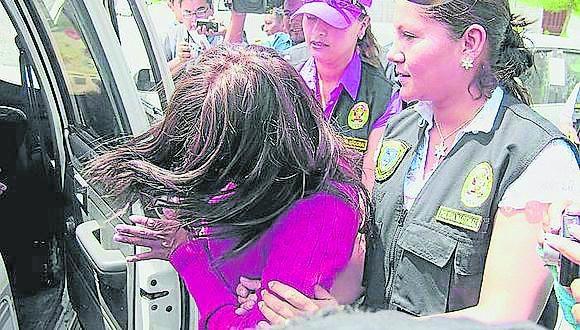 Ayacucho: la investigada fue intervenida cuando retornaba a su domicilio, luego de que los padres de las víctimas denunciaron los hechos. (Foto: PNP)