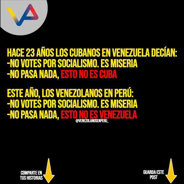 Foto: Instagram Venezolanos en Perú Oficial