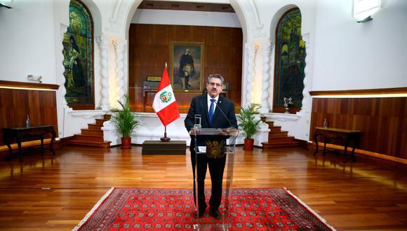 Manuel Merino renuncia. (Palacio de Gobierno)