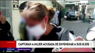 Capturan a mujer que envenenó ebria a sus hijos en Junín