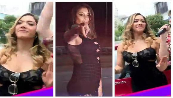 """Isabel Acevedo baila """"La Atorranta"""" y no hace caso a comentarios de Karla Tarazona"""