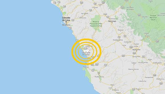 Sismo de magnitud 4.6 sacudió Cañete