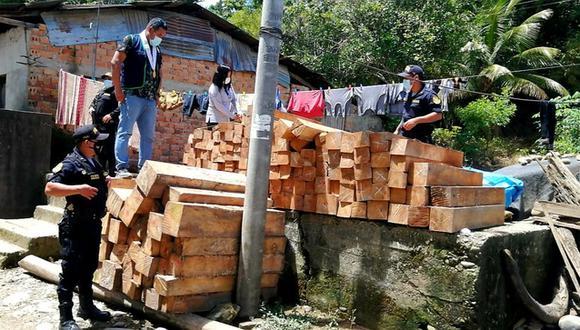 San Martín: incautan más de 2500 pies tablares de madera ilegal en provincia de Tocache (Foto: Ministerio Público)