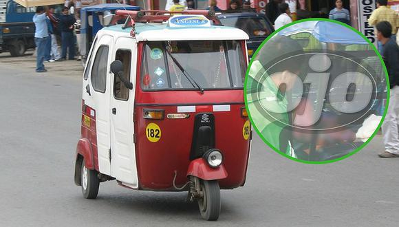 Policías atienden parto en un mototaxi