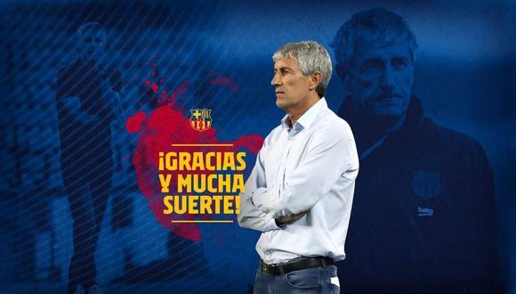 Barcelona despidió a Quique Setién este lunes. (Foto: @FCBarcelona_es)