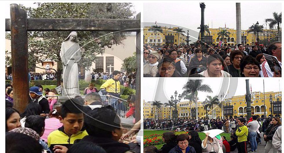 Santa Rosa de Lima: miles participaron en misa en Plaza de Armas (FOTOS Y VIDEO)