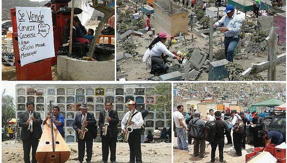 VMT: No acatan ley seca y toman cerveza en cementerio de Nueva Esperanza (FOTOS)