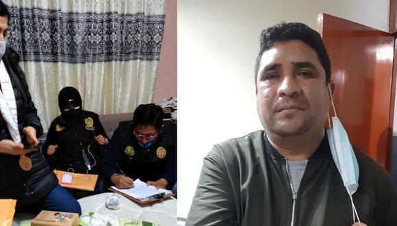 El mayor PNP Edward Salazar Saenz es investigado por ser presunto integrante de esta banda de extorsionadores. (Fotos: Ministerio Público)