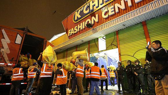 Cachina Fashion: incautan 20 toneladas de ropa de contrabando del extranjero [FOTOS]