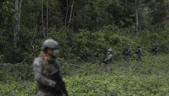 Capitán muere y cifra de fallecidos se eleva a tres por explosión de minas terroristas en zona Vraem (Foto referencial: César Campos)