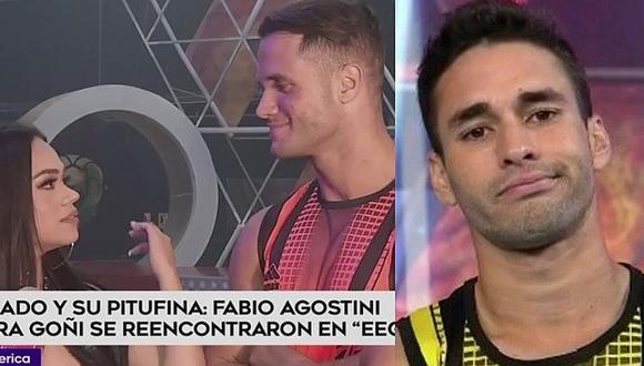 Mayra Goñi se presenta en 'EEG', Fabio Agostini la saluda, pero Luis Alonso la evita