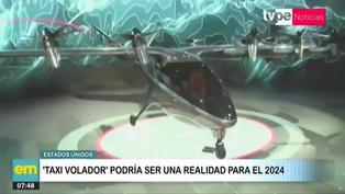 El primer taxi volador podría ser una realidad en el 2024