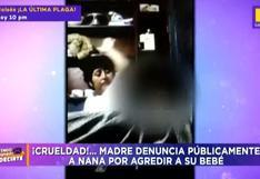 Descubren que nana agredía brutalmente a bebé tras grabarla a escondidas con celular │VIDEO