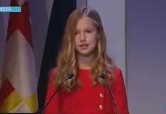 Princesa Leonor habla en castellano, catalán, árabe e inglés durante discurso | VIDEO