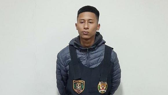 Raycon Pool Lender Zapata Muñoz (18) fue detenido con 99 envoltorios con droga y es investigado en la Depincri Ventanilla. (Foto: PNP)