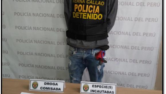 Policía detuvo a presunto extorsionador luego de que recibiera dinero de parte de una víctima. (PNP)