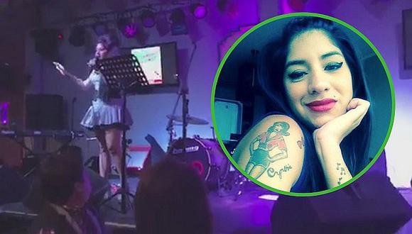'Amy Winehouse' rompe en llanto en concierto y hace grave denuncia sobre conocido local (VIDEO)